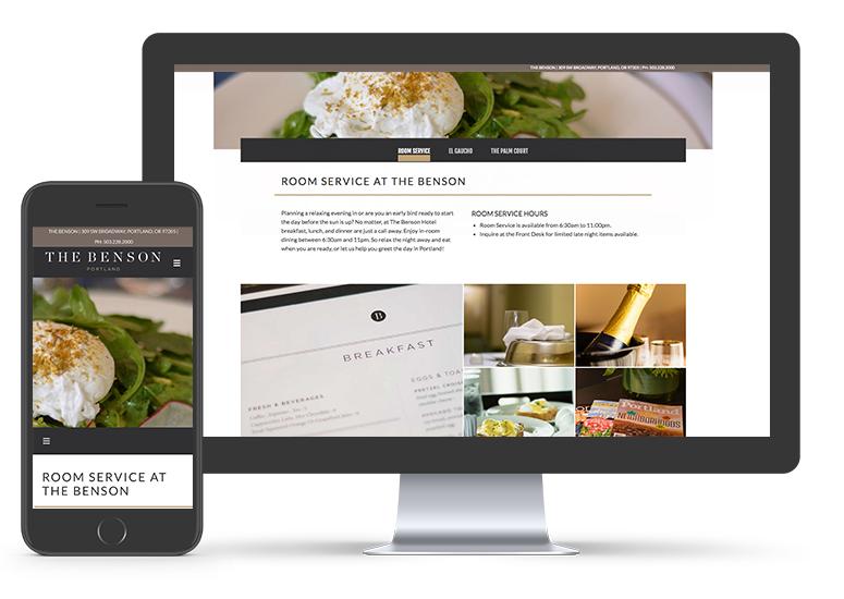 The Benson Hotel Website Development | Hotel Marketing Firm in Seattle | CMA
