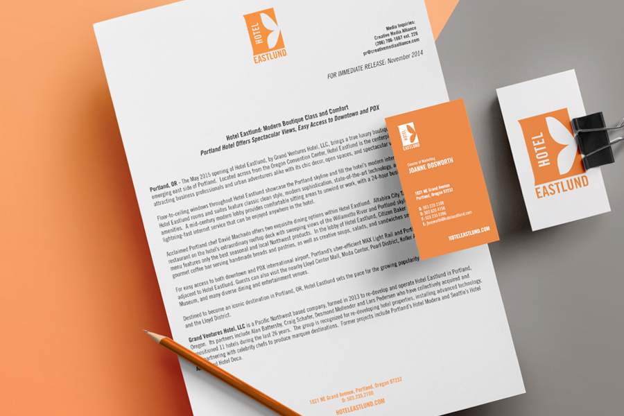 Hotel Eastlund Identity System | Seattle Marketing Agency | CMA