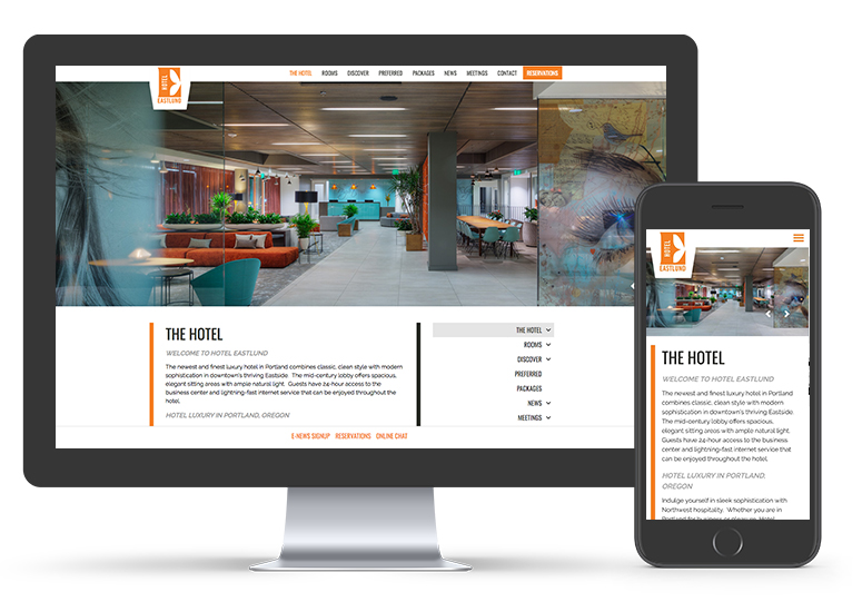 Hotel Eastlund Website Development | Seattle Marketing Agency | CMA
