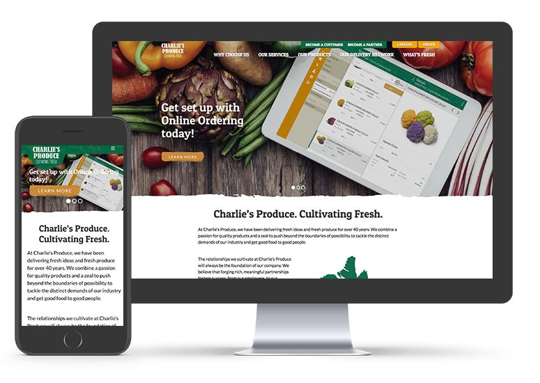 Charlie's Produce Web Development | Seattle Marketing Agency | CMA
