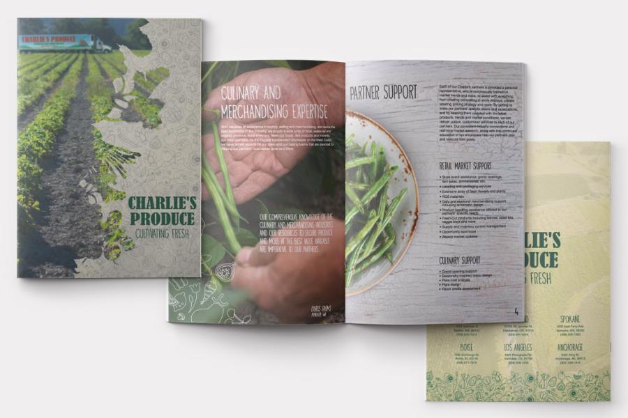 Charlie's Produce Marketing Brochure | Seattle Marketing Agency | CMA