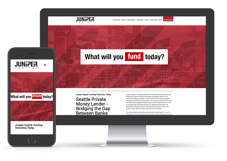 Juniper Capital Website Design | Seattle Digital Marketing Agency | CMA
