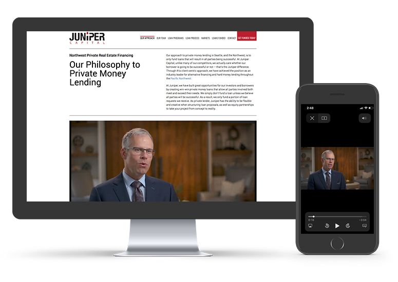 Juniper Capital Website Development | Seattle Digital Marketing Agency | CMA