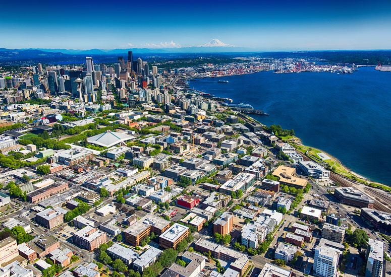 Aeriel Shot of Seattle